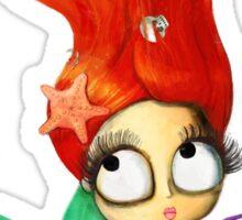 Red Hair Spooky Mermaid Sticker