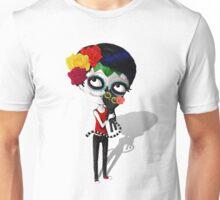Girl with Black Cat Unisex T-Shirt