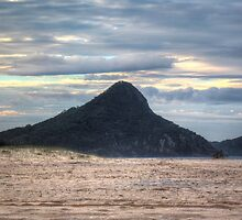 Fingal Bay Mountain (Nelson Bay/Shoal Bay area) at Sunset by darkfirev3
