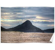 Fingal Bay Mountain (Nelson Bay/Shoal Bay area) at Sunset Poster