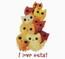 I love cute cats! Kids Tee