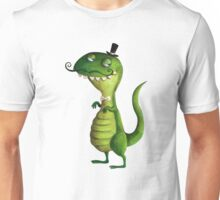 Sir T-rex with Fancy Mustaches Unisex T-Shirt