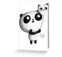 Cute Panda with Balloons Greeting Card