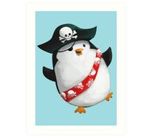 Cute Pirate Penguin Art Print