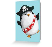 Cute Pirate Penguin Greeting Card