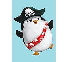 Cute Pirate Penguin Photographic Print