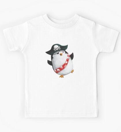 Cute Pirate Penguin Kids Tee