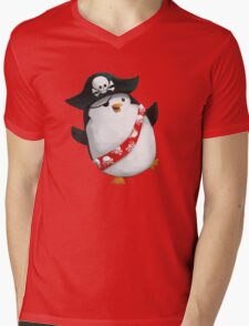 Cute Pirate Penguin Mens V-Neck T-Shirt