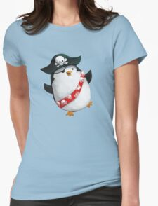 Cute Pirate Penguin Womens Fitted T-Shirt