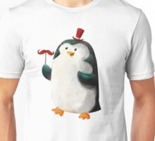 Fancy Penguin with Mustaches on the stick Unisex T-Shirt