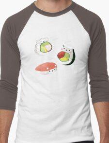 Cute Sushi Rolls Men's Baseball ¾ T-Shirt