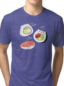 Cute Sushi Rolls Tri-blend T-Shirt