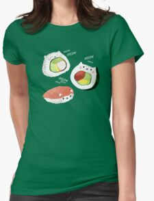 Cute Sushi Rolls Womens Fitted T-Shirt