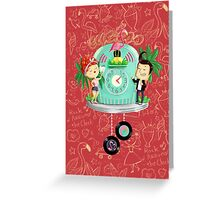 Rock 'n' Roll Cuckoo Clock Greeting Card