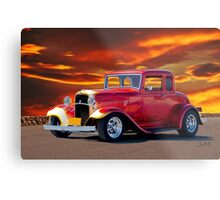 1932 Ford 5 Window Coupe Metal Print