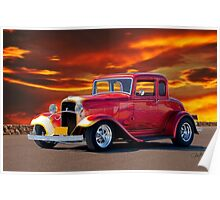 1932 Ford 5 Window Coupe Poster