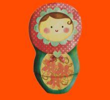 Cute Russian Matryoshka Doll Kids Tee