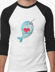 I love Narwhals Men's Baseball ¾ T-Shirt