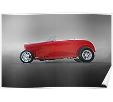 1932 Ford Roadster 'Profile in Red' Poster