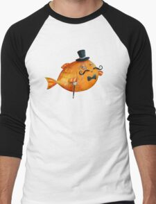 Sir Fish with Mustaches Men's Baseball ¾ T-Shirt