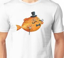 Sir Fish with Mustaches Unisex T-Shirt