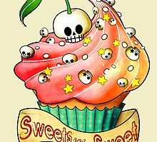 Sweet Skull Cupcake by colonelle