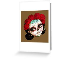 Dia de Los Muertos Beatiful Girl Greeting Card