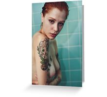 Erotic Echo - perfect nude sexy girl erotic wild cute awesome dark fantasy kinky fun Greeting Card