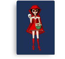 El Dia de Los Muertos Red Riding Hood Canvas Print