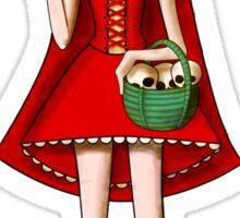 El Dia de Los Muertos Red Riding Hood Sticker