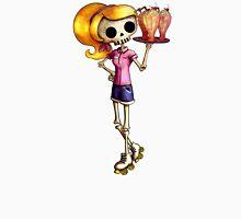 Skeleton Pin Up Girl Waitress Unisex T-Shirt