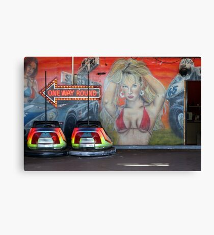 checking out the bumpers Canvas Print
