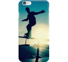 Skateboarder silhouette on a grind iPhone Case/Skin