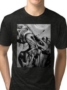 """Moonlight Zombie"" Dark Art by VCalderon Tri-blend T-Shirt"