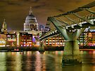 St Paul`s Catherderal and Millennium Footbridge - Night - HDR by Colin  Williams Photography