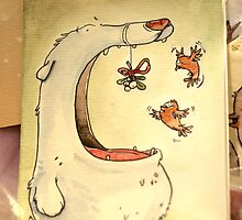 Christmas Greeting Card - Polar bear by mimiriq