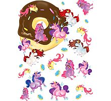 Fat unicorns and Donuts Photographic Print