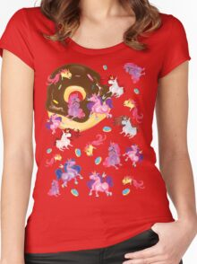 Fat unicorns and Donuts Women's Fitted Scoop T-Shirt