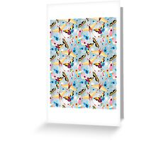 pattern multicolored butterflies Greeting Card