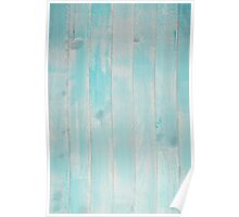 Blue wood background Poster