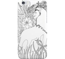 Lion floraldoodle iPhone Case/Skin