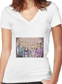 APH Dollhouse Women's Fitted V-Neck T-Shirt