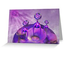 The Purple People Eaters Greeting Card