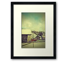 Around Winter Barn 3 Framed Print