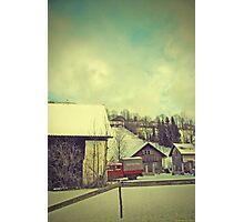 Around Winter Barn 3 Photographic Print