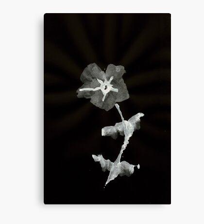 0031 - Brush and Ink - First Flower Canvas Print