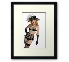 Holly...not just a Nude Model Framed Print