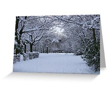 Archway of Snow Greeting Card