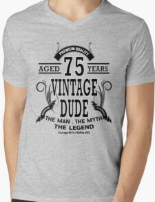 Vintage Dud Aged 75 Years Mens V-Neck T-Shirt
