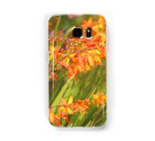 Cana Lilly. Orange and Green soft focus. Samsung Galaxy Case/Skin